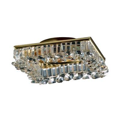 Novotech BOB 369439 Встраиваемый светильникВстраиваемые хрустальные светильники<br>Декоративный встраиваемый светильник модели Novotech 369439 из серии BOB отличается следующим качеством: Основание светильника – алюминиевое литьё. Это сплав, основными  достоинствами которого являются — устойчивость к практически всем видам негативного воздействия окружающей среды, коррозии, небольшой вес, по сравнению с другими видами металла и   экологическая безопасность материала. Декоративные бусины сделаны из хрусталя. Он обладает высоким показателем плотности, прозрачности и блеска. Благодаря содержанию свинца (не менее 30%) и определённому подбору углов, образуемых гранями, изделия из хрусталя отличаются необыкновенно яркой, многоцветной игрой света, чарующей магией красоты, совершенства и роскоши.<br><br>S освещ. до, м2: 2<br>Тип лампы: галогенная<br>Тип цоколя: GU5.3 (MR16)<br>Цвет арматуры: Золотой<br>Диаметр, мм мм: 80<br>Диаметр врезного отверстия, мм: 60<br>Высота, мм: 65<br>Оттенок (цвет): прозрачный<br>MAX мощность ламп, Вт: 50