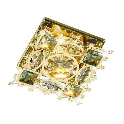 Novotech AURORA 369501 Встраиваемый светильникХрустальные<br>Декоративный встраиваемый неповоротный светильник модели Novotech 369501 из серии AURORA отличается следующим качеством: Светильник сделан из металла. Это популярный и востребованный материал благодаря ряду качеств. К ним относится: повышенная прочность, износостойкость и долговечность.  Декоративные бусины произведены из хрусталя.  Хрусталь обладает высоким показателем плотности, прозрачности и блеска. Благодаря содержанию свинца (не менее 30%) и определённому подбору углов, образуемых гранями, изделия из хрусталя отличаются необыкновенно яркой, многоцветной игрой света, чарующей магией красоты, совершенства и роскоши.<br><br>S освещ. до, м2: 3<br>Тип лампы: галогенная<br>Тип цоколя: GU5.3 (MR16)<br>Цвет арматуры: Золотой<br>Количество ламп: 1<br>Диаметр, мм мм: 95<br>Диаметр врезного отверстия, мм: 60<br>Высота, мм: 65<br>Оттенок (цвет): прозрачный<br>MAX мощность ламп, Вт: 50