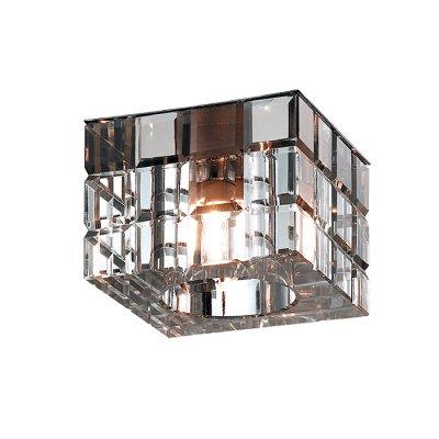 Novotech CUBIC 369540 Встраиваемый светильникКвадратные<br>Декоративный встраиваемый неповоротный светильник модели Novotech 369540 из серии CUBIC отличается следующим качеством: Основание светильника сделано из металла. Это популярный и востребованный материал благодаря ряду качеств. К ним относится: повышенная прочность, износостойкость и долговечность. Декоративный плафон произведен из хрусталя. Он обладает высоким показателем плотности, прозрачности и блеска. Благодаря содержанию свинца (не менее 30%) и определённому подбору углов, образуемых гранями, изделия из хрусталя отличаются необыкновенно яркой, многоцветной игрой света, чарующей магией красоты, совершенства и роскоши.<br><br>S освещ. до, м2: 2<br>Тип лампы: галогенная<br>Тип цоколя: G9<br>Количество ламп: 1<br>Ширина, мм: 70<br>MAX мощность ламп, Вт: 40<br>Диаметр врезного отверстия, мм: 60<br>Длина, мм: 70<br>Высота, мм: 68<br>Цвет арматуры: серебристый
