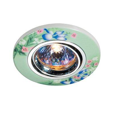 Novotech CERAMIC 369554 Встраиваемый светильникКруглые<br>Декоративный встраиваемый поворотный светильник модели Novotech 369554 из серии CERAMIC отличается следующим качеством: Основание светильника – алюминиевое литьё. Это сплав, основными  достоинствами которого являются — устойчивость к практически всем видам негативного воздействия окружающей среды, коррозии, небольшой вес, по сравнению с другими видами металла и   экологическая безопасность материала. Декоративный плафон сделан из керамики. Этот материал отличает изящество форм, различные приемы передачи тончайших линий и деталей. Они ассоциируется с элегантностью, красотой и гармонией. Это широко распространенный и очень древний вид народного художественного ремесла, использующего легко доступный природный материал – глину. Глина добывается из верхних слоёв земли, а значит экологически чистый материал с мощнейшей земной энергетикой.<br><br>S освещ. до, м2: 3<br>Тип лампы: галогенная<br>Тип цоколя: GU5.3 (MR16)<br>Количество ламп: 1<br>MAX мощность ламп, Вт: 50<br>Диаметр, мм мм: 97<br>Диаметр врезного отверстия, мм: 65<br>Высота, мм: 45<br>Оттенок (цвет): цветной<br>Цвет арматуры: серебристый