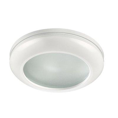 Встраиваемый светильник Novotech 370387 DAMLAМеталлические<br><br><br>Тип лампы: галогенная/LED - светодиодная<br>Тип цоколя: GX5.3<br>Цвет арматуры: белый<br>Количество ламп: 1<br>Диаметр, мм мм: 80<br>Диаметр врезного отверстия, мм: 65<br>Поверхность арматуры: матовая<br>Оттенок (цвет): белый<br>MAX мощность ламп, Вт: 50W