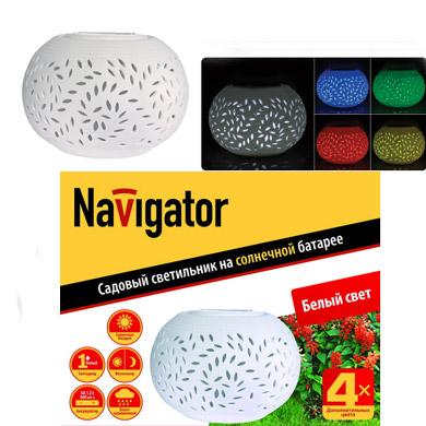 Светильник садовый Navigator 94 717 NSL-MP-1W-106AA-CRВ виде шара<br>Садовые светильники Navigator серии NSL-MP могут быть использованы для декоративной подсветки участков сада и открытых веранд, цвет светодиода белый. В светильнике дополнительно установлен четырехцветный светодиод.<br> Код продукта -NSL-MP-1W-106АА-CR<br>  Материал корпуса - керамика<br>  Количество светодиодов - 2<br>  Цвет светодиода -Белый и четырехцветный<br>  Высота, мм - 120<br>  Ширина, мм - 155<br>  Количество штук в коробке -12<br>  Штрихкод - 4607136 94717 7<br><br>Тип лампы: LED - светодиодная<br>Тип цоколя: LED<br>Количество ламп: 1<br>Диаметр, мм мм: 155<br>Высота, мм: 120