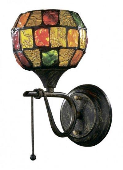 Светильник Odeon Light 2094/1W Velute коричневыйТиффани<br>Настенное бра Odeon Light 2094/1W в стиле Тиффани способно стать самостоятельным украшением Вашего безупречного интерьера, наделяя его эстетическим богатством и создавая ауру чудотворности света. Использованное итальянскими мастерами витражное стекло превращает творение в цельное произведение искусства. В любой зоне будет благородно царить чаша разноцветной мозаики, переливающейся радужными бликами, как при естественном, так и искусственном излучении. Интерьер обретёт неподражаемой очарование, грацию и оригинальную атрибутику в декоре. Настенное бра Odeon Light 2094/1W станет Вашим любимым украшением и полноценным источником томного потока лучей под витражным куполом.<br><br>S освещ. до, м2: 4<br>Тип лампы: накаливания / энергосбережения / LED-светодиодная<br>Тип цоколя: E14<br>Цвет арматуры: коричневый<br>Количество ламп: 1<br>Ширина, мм: 150<br>Расстояние от стены, мм: 150<br>Высота, мм: 230<br>MAX мощность ламп, Вт: 60