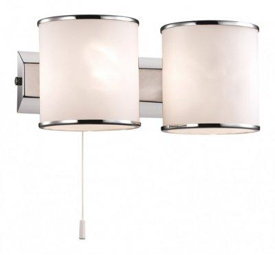 Светильник Odeon Light 2182/2W хром PaluСовременные<br><br><br>S освещ. до, м2: 5<br>Крепление: планка<br>Тип лампы: галогенная / LED-светодиодная<br>Тип цоколя: G9<br>Цвет арматуры: серебристый<br>Количество ламп: 2<br>Длина, мм: 210<br>Высота, мм: 95<br>MAX мощность ламп, Вт: 40