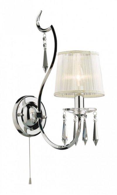 Светильник Odeon Light 2272/1W PersaКлассические<br><br><br>S освещ. до, м2: 2<br>Тип лампы: накаливания / энергосбережения / LED-светодиодная<br>Тип цоколя: E14<br>Цвет арматуры: серебристый<br>Количество ламп: 1<br>Ширина, мм: 140<br>Высота, мм: 300<br>MAX мощность ламп, Вт: 40