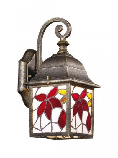 Светильник настенный Odeon light 2308/1W бронза LartuaНастенные<br>Уличные светильники сегодня создаются, как цельные произведения искусства. К примеру, итальянское изделие Odeon light 2308/1W. Прочная бронзовая конструкция искусно дополнена витражным стеклом, что делает светильник надёжным спутником экстерьерных площадок и их благородным украшением. Лаконичная форма фонаря настенного уличного светильника Odeon light 2308/1W позволяет использовать его сольно или в комплексных вариациях. Любая придомовая площадка, наполненная соответствующим сиянием, будет отличаться явным преимуществом от затемнённых территорий. Уличный светильник Odeon light 2308/1W – прекрасная возможность облагородить сиянием Ваш экстерьер, достойный лучших лучей!<br><br>S освещ. до, м2: до 4<br>Тип лампы: накаливания / энергосбережения / LED-светодиодная<br>Тип цоколя: E27<br>Количество ламп: 1<br>Ширина, мм: 151<br>MAX мощность ламп, Вт: 60<br>Расстояние от стены, мм: 208<br>Высота, мм: 322<br>Цвет арматуры: бронзовый