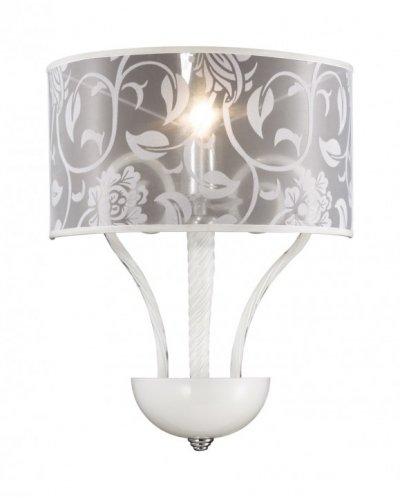 Светильник бра белый Odeon light 2536/1Wсовременные бра модерн<br><br><br>S освещ. до, м2: 2<br>Крепление: настенное<br>Тип лампы: накаливания / энергосбережения / LED-светодиодная<br>Тип цоколя: E14<br>Цвет арматуры: серебристый<br>Количество ламп: 1<br>Ширина, мм: 330<br>Высота, мм: 560<br>Оттенок (цвет): белый<br>MAX мощность ламп, Вт: 40