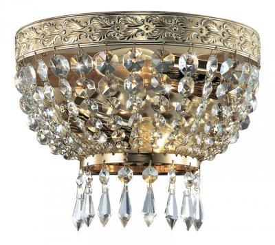 Настенный светильник odeon light 2808/2W TERESIAХрустальные<br><br><br>S освещ. до, м2: 8<br>Тип лампы: накаливания / энергосбережения / LED-светодиодная<br>Тип цоколя: E14<br>Цвет арматуры: золотой<br>Количество ламп: 2<br>Ширина, мм: 230<br>Расстояние от стены, мм: 100<br>Высота, мм: 180<br>MAX мощность ламп, Вт: 60