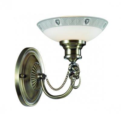 Светильник бра Odeon light 3213/1W RENEКлассические<br>Отличный вариант домашнего освещения Odeon light Бра 3213/1W серии RENE оформлена в классическом стиле. Светильник состоит из стеклянного плафона  и оригинальной бронзовой арматуры, украшенной металлическими элементами в виде фигурок льва. Данная модель обладает элегантной монументальностью, гармонично сочетающейся со строгой классикой. Цоколь E14. Мощность 1*60W. Нет ламп в комплекте.<br><br>Тип цоколя: E14<br>Цвет арматуры: бронзовый<br>Количество ламп: 1<br>Ширина, мм: 190<br>Длина, мм: 180<br>Высота, мм: 240<br>MAX мощность ламп, Вт: 60