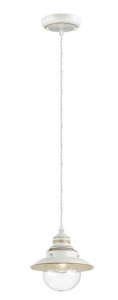Подвесной светильник Odeon light 3248/1 SANDRINAОдиночные<br>Отличный вариант домашнего освещения Odeon light Подвес 3248/1 серии SANDRINA оформлен в классическом стиле. Светильник состоит из стеклянного прозрачного плафона в форме сферы и оригинальной арматуры белого с золотой патиной цвета, украшенной ажурными металлическими элементами. Данная модель великолепно бы смотрелась на палубе пиратской шхуны, но в наше время прекарсно украсит любой современный интерьер. Цоколь E14. Мощность 1*60W. Нет ламп в комплекте.<br><br>S освещ. до, м2: 3<br>Тип цоколя: E14<br>Цвет арматуры: белый с золотистой патиной<br>Количество ламп: 1<br>Ширина, мм: 180<br>Длина цепи/провода, мм: 1017<br>Длина, мм: 180<br>Высота, мм: 168<br>MAX мощность ламп, Вт: 60