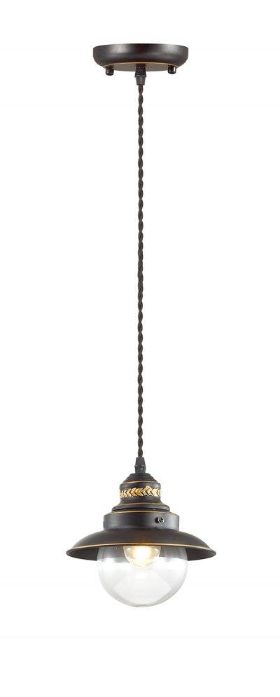 Подвесной светильник Odeon light 3249/1 SANDRINAОдиночные<br>Отличный вариант домашнего освещения Odeon light Подвес 3249/1 серии SANDRINA оформлена в классическом стиле. Светильник состоит из стеклянного прозрачного плафона в форме сферы и оригинальной арматуры кофейного цвета, украшенной ажурными металлическими элементами. Данная модель великолепно бы смотрелась на палубе пиратской шхуны, но в наше время прекарсно украсит любой современный интерьер. Цоколь E14. Мощность 1*60W. Нет ламп в комплекте.<br><br>S освещ. до, м2: 3<br>Тип цоколя: E14<br>Количество ламп: 1<br>Ширина, мм: 180<br>MAX мощность ламп, Вт: 60<br>Длина цепи/провода, мм: 1017<br>Длина, мм: 180<br>Высота, мм: 168<br>Цвет арматуры: коричневый
