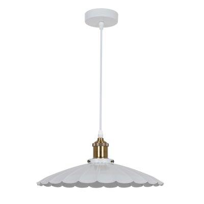 Светильник Odeon light 3370/1Подвесные<br><br><br>Установка на натяжной потолок: Да<br>S освещ. до, м2: 3<br>Тип лампы: Накаливания / энергосбережения / светодиодная<br>Тип цоколя: E27<br>Количество ламп: 1<br>MAX мощность ламп, Вт: 60<br>Диаметр, мм мм: 350<br>Высота, мм: 350 - 1155<br>Цвет арматуры: белый