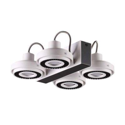 Потолочный светильник Odeon light 3490/4C SATELIUMОжидается<br><br><br>Тип цоколя: GU10<br>Количество ламп: 4<br>Ширина, мм: 266<br>Длина, мм: 292<br>Высота, мм: 88<br>Оттенок (цвет): белый с черным<br>MAX мощность ламп, Вт: 50