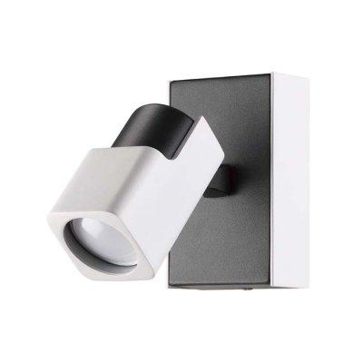 Настенный светильник Odeon light 3491/1W DARAVISОжидается<br><br><br>Тип цоколя: GU10<br>Количество ламп: 1<br>Ширина, мм: 80<br>Длина, мм: 130<br>Высота, мм: 130<br>Оттенок (цвет): белый с черным<br>MAX мощность ламп, Вт: 50