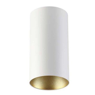 Потолочный накладной светильник Odeon light 3556/1C PRODYОжидается<br><br><br>Тип цоколя: GU10<br>Количество ламп: 1<br>Ширина, мм: 110<br>Длина, мм: 110<br>Высота, мм: 210<br>Оттенок (цвет): белый с золотом<br>MAX мощность ламп, Вт: 50