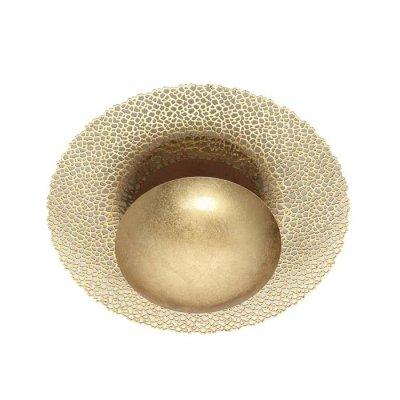Настенно-потолочный светильник Odeon light 3559/24L SOLARIOОжидается<br><br><br>Цветовая t, К: 3000K<br>Тип цоколя: LED<br>Количество ламп: 1<br>Ширина, мм: 450<br>Длина, мм: 150<br>Высота, мм: 450<br>Оттенок (цвет): золотое фольгирование<br>MAX мощность ламп, Вт: 24