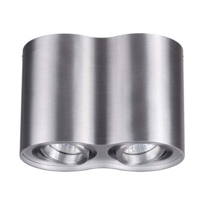 Потолочный накладной светильник Odeon light 3563/2C PILLARONОжидается<br><br><br>Тип цоколя: GU10<br>Количество ламп: 2<br>Ширина, мм: 178<br>Длина, мм: 97<br>Высота, мм: 125<br>Оттенок (цвет): матовый алюминий<br>MAX мощность ламп, Вт: 50