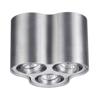 Потолочный накладной светильник Odeon light 3563/3C PILLARONОжидается<br><br><br>Тип цоколя: GU10<br>Количество ламп: 3<br>Ширина, мм: 183<br>Длина, мм: 170<br>Высота, мм: 125<br>Оттенок (цвет): матовый алюминий<br>MAX мощность ламп, Вт: 50