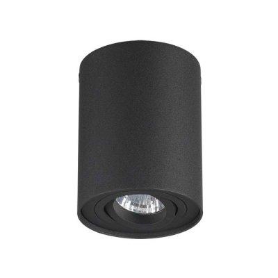 Потолочный накладной светильник Odeon light 3565/1C PILLARONДекоративные<br><br><br>Тип лампы: галогенная/LED<br>Тип цоколя: GU10<br>Количество ламп: 1<br>Ширина, мм: 96<br>Длина, мм: 96<br>Высота, мм: 125<br>Оттенок (цвет): черный<br>MAX мощность ламп, Вт: 50