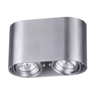 Потолочный накладной светильник Odeon light 3576/2C MONTALAОжидается<br><br><br>Тип цоколя: GU10<br>Количество ламп: 2<br>Ширина, мм: 180<br>Длина, мм: 67<br>Высота, мм: 105<br>Оттенок (цвет): матовый алюминий<br>MAX мощность ламп, Вт: 50