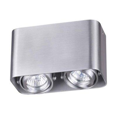 Потолочный накладной светильник Odeon light 3577/2C MONTALAОжидается<br><br><br>Тип цоколя: GU10<br>Количество ламп: 2<br>Ширина, мм: 180<br>Длина, мм: 90<br>Высота, мм: 105<br>Оттенок (цвет): матовый алюминий<br>MAX мощность ламп, Вт: 50