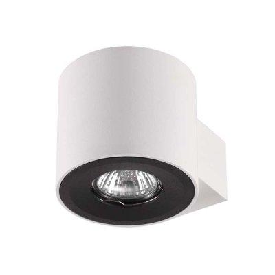 Настенный светильник Odeon light 3581/1W LACUNAОжидается<br><br><br>Тип цоколя: GU10<br>Количество ламп: 1<br>Ширина, мм: 100<br>Длина, мм: 129<br>Высота, мм: 90<br>Оттенок (цвет): белый матовый с черным кольцом<br>MAX мощность ламп, Вт: 50
