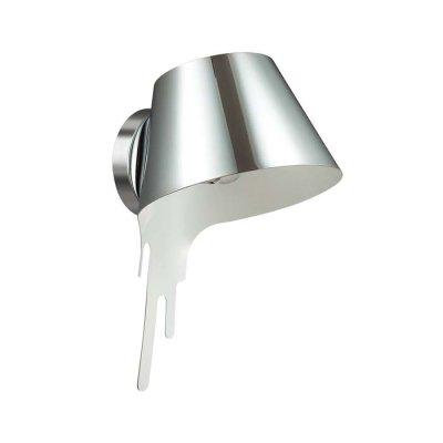 Настенный светильник Odeon light 3977/1W MAESTROОжидается<br>Бра 3977/1W серии Maestro в виде перевернутого ведерка с краской станет не только самым оригинальным<br><br>Тип цоколя: E27<br>Количество ламп: 1<br>Ширина, мм: 220<br>Расстояние от стены, мм: 235<br>Высота, мм: 360<br>Оттенок (цвет): хром<br>MAX мощность ламп, Вт: 60