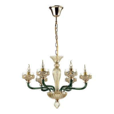 Люстра Odeon light 4001/6 BARCLAYОжидается<br><br><br>Тип цоколя: E14<br>Количество ламп: 6<br>Ширина, мм: 672<br>Высота полная, мм: 1505<br>Длина, мм: 672<br>Высота, мм: 505<br>Оттенок (цвет): золото/темно-зеленый/шампань<br>MAX мощность ламп, Вт: 40