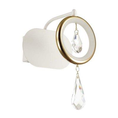 Настенный светильник Odeon light 4034/6WL ORIOОжидается<br><br><br>Тип цоколя: LED<br>Количество ламп: 1<br>Ширина, мм: 160<br>Расстояние от стены, мм: 150<br>Высота, мм: 220<br>Оттенок (цвет): белый/хром/золото/хрусталь<br>MAX мощность ламп, Вт: 6