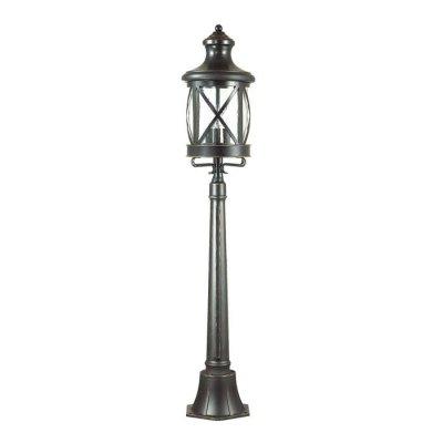 Уличный светильник, 124 см Odeon light 4045/3F SATIONОжидается<br><br><br>Тип цоколя: E14<br>Количество ламп: 3<br>Ширина, мм: 233<br>Длина, мм: 233<br>Высота, мм: 1244<br>Оттенок (цвет): черный/золотая патина/стекло<br>MAX мощность ламп, Вт: 60