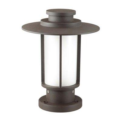 Уличный светильник на столб Odeon light 4047/1B MITOОжидается<br><br><br>Тип цоколя: E27<br>Количество ламп: 1<br>Ширина, мм: 240<br>Длина, мм: 240<br>Высота, мм: 300<br>Оттенок (цвет): матовое кофе/опал<br>MAX мощность ламп, Вт: 18