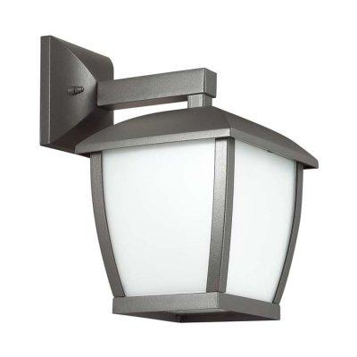 Уличный настенный светильник Odeon light 4051/1W TAKOОжидается<br><br><br>Тип цоколя: E27<br>Количество ламп: 1<br>Ширина, мм: 170<br>Длина, мм: 170<br>Расстояние от стены, мм: 235<br>Высота, мм: 285<br>Оттенок (цвет): темно-серый/матовый белый<br>MAX мощность ламп, Вт: 100