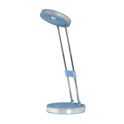 Настольная лампа JaZZway PTL-620 4W 3500K синяяСветодиодные<br>Настольная лампа – это не просто источник дополнительного освещения, но и оригинальный элемент декора. Его можно установить в спальне, гостиной, кабинете и других комнатах. Интернет-магазин «Светодом» предлагает настольные лампы разных стилей по доступным ценам. Благодаря большому ассортименту Вы обязательно найдете в нашем каталоге именно ту модель, которую искали.   Настольная лампа JaZZway PTL-620 4W 3500K синяя – прекрасный вариант для завершения интерьера. Ее можно включить одновременно с люстрой для более яркого освещения или без нее для создания уютной атмосферы, настраивающей на отдых.   Купить настольную лампу JaZZway PTL-620 4W 3500K синяя Вы можете с помощью виртуальной «Корзины» или по контактным номерам, указанным на сайте.<br><br>Цветовая t, К: 3500<br>Тип лампы: LED - светодиодная<br>Количество ламп: 1 LED<br>MAX мощность ламп, Вт: 4<br>Диаметр, мм мм: 120<br>Высота, мм: 340