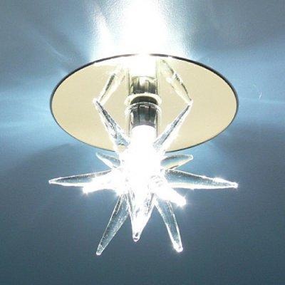 Светильник Электростандарт SD888 WH золото/прозрачныйвстраиваемые светильники стекло<br>