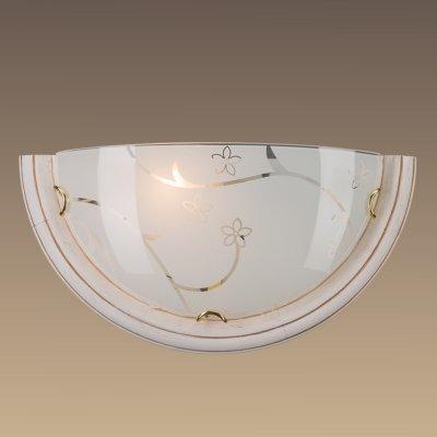 Светильник Сонекс 002 SN15 BLANKETA GOLDНакладные<br><br><br>Тип лампы: накаливани / нергосбережени / LED-светодиодна<br>Тип цокол: E27<br>Количество ламп: 1<br>MAX мощность ламп, Вт: 100<br>Цвет арматуры: белый с золотистой патиной