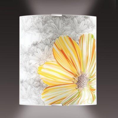 Светильник бра Сонекс 1234/A никель/белый/желт/зелен TREZAНакладные<br><br><br>S освещ. до, м2: 4<br>Тип лампы: накаливания / энергосбережения / LED-светодиодная<br>Тип цоколя: E27<br>Количество ламп: 1<br>Ширина, мм: 224<br>MAX мощность ламп, Вт: 60<br>Высота, мм: 260<br>Цвет арматуры: серый