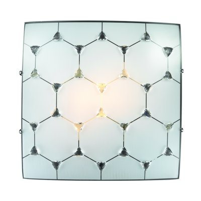 Сонекс ZABI 2206 настенно-потолочный светильникКвадратные<br><br><br>S освещ. до, м2: 6<br>Тип лампы: Накаливания / энергосбережения / светодиодная<br>Тип цоколя: E27<br>Количество ламп: 2<br>Ширина, мм: 300<br>Длина, мм: 300<br>Высота, мм: 90<br>MAX мощность ламп, Вт: 60