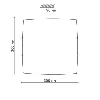 Сонекс ZABI 2206 настенно-потолочный светильникОжидается<br><br>