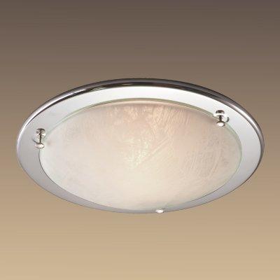 Светильник Сонекс 222 хром AlabastroКруглые<br>Настенно потолочный светильник Сонекс (Sonex) 222 подходит как для установки в вертикальном положении - на стены, так и для установки в горизонтальном - на потолок. Для установки настенно потолочных светильников на натяжной потолок необходимо использовать светодиодные лампы LED, которые экономнее ламп Ильича (накаливания) в 10 раз, выделяют мало тепла и не дадут расплавиться Вашему потолку.<br><br>S освещ. до, м2: 8<br>Тип лампы: накаливания / энергосбережения / LED-светодиодная<br>Тип цоколя: E27<br>Количество ламп: 2<br>MAX мощность ламп, Вт: 60<br>Диаметр, мм мм: 380<br>Цвет арматуры: серебристый