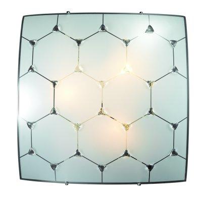 Сонекс ZABI 3206 настенно-потолочный светильникКвадратные<br><br><br>S освещ. до, м2: 9<br>Тип лампы: Накаливания / энергосбережения / светодиодная<br>Тип цоколя: E27<br>Количество ламп: 3<br>Ширина, мм: 400<br>Длина, мм: 400<br>Высота, мм: 60<br>MAX мощность ламп, Вт: 60