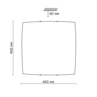 Сонекс ZABI 3206 настенно-потолочный светильникОжидается<br><br>