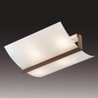Светильник Сонекс 4216 белый/венге Vengaпрямоугольные светильники<br>Настенно потолочный светильник Сонекс (Sonex) 4216 подходит как для установки в вертикальном положении - на стены, так и для установки в горизонтальном - на потолок. Для установки настенно потолочных светильников на натяжной потолок необходимо использовать светодиодные лампы LED, которые экономнее ламп Ильича (накаливания) в 10 раз, выделяют мало тепла и не дадут расплавиться Вашему потолку.<br><br>S освещ. до, м2: 16<br>Тип лампы: накаливания / энергосбережения / LED-светодиодная<br>Тип цоколя: E14<br>Цвет арматуры: черный<br>Количество ламп: 4<br>Ширина, мм: 470<br>Длина, мм: 530<br>MAX мощность ламп, Вт: 60