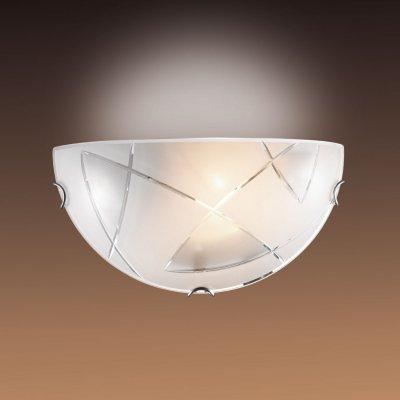 Светильник бра Сонекс 041 хром/белый GENIНакладные<br><br><br>S освещ. до, м2: 6<br>Тип лампы: накаливания / энергосбережения / LED-светодиодная<br>Тип цоколя: E27<br>Цвет арматуры: серебристый<br>Количество ламп: 1<br>Ширина, мм: 300<br>MAX мощность ламп, Вт: 100