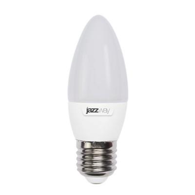Лампа свеча LED Jazzway PLED-SP C35 5.5w 5000K E27В виде свечи<br><br><br>Тип товара: лампа светодиодная LED<br>Цветовая t, К: CW - дневной белый 6000 К<br>Тип лампы: LED - светодиодная<br>Тип цоколя: E27<br>MAX мощность ламп, Вт: 5,5<br>Диаметр, мм мм: 35<br>Высота, мм: 102