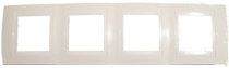 Рамка 4-ая горизонтальная белый MGU6.008.18Unica Хамелеон<br>Технические характеристикиЦвет: Белый/белый.Посты: 4.Модульность: 8.Размер: 80 х 303 мм.Степень защиты: IP40.Дополнительная информация:Материал - пластик. Горизонтальная установка.<br><br>Оттенок (цвет): Белый