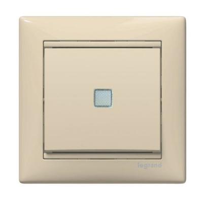 Legrand Valena Крем Выключатель 1-клавишный с подсветкой 774310Бежевый<br><br><br>Оттенок (цвет): бежевый