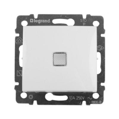 Legrand Valena Белый Выключатель 1-клавишный с подсветкой 774410Белый  <br><br><br>Оттенок (цвет): белый
