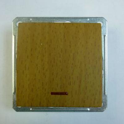 Выключатель Wessen 59 одноклавишный с индикацией бук (VS116-153-8-86)БУК<br>250В, 16АХ, скрытой установки, без рамки<br><br>Оттенок (цвет): под дерево
