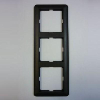 Рамка Wessen 59 трехместная черный бархат (KD-3-68)Черный бархат<br>для скрытой установки<br><br>Оттенок (цвет): черный