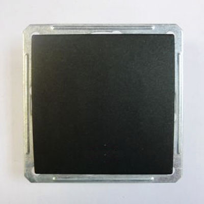 Выключатель Wessen 59 одноклавишный черный бархат (VS116-154-6-86)Черный бархат<br>250В, 16АХ, скрытой установки, без рамки<br><br>Оттенок (цвет): черный